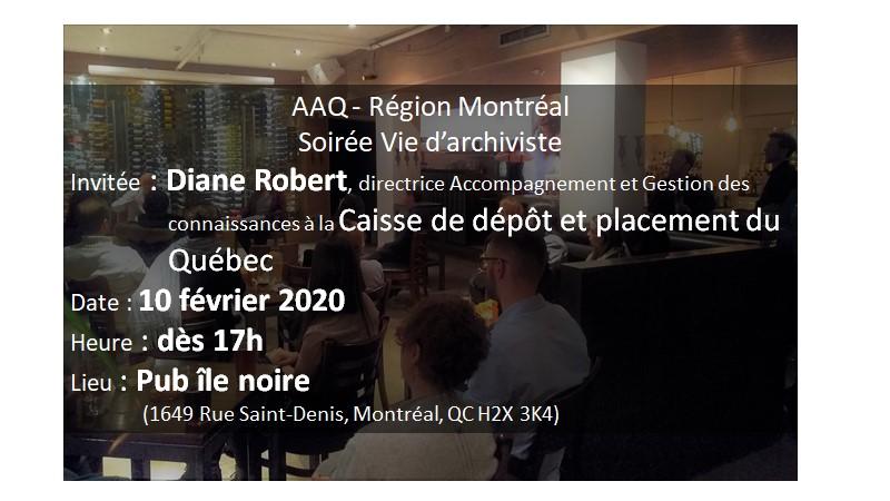 Région Montréal – 5@7 Vie d'archiviste