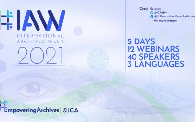 Semaine internationale des archives 2021 – Webinaires #IAW2021