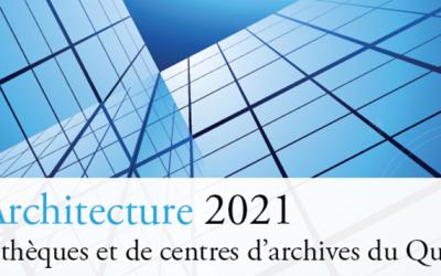 Prix Architecture 2021 de bibliothèques et de centres d'archives du Québec